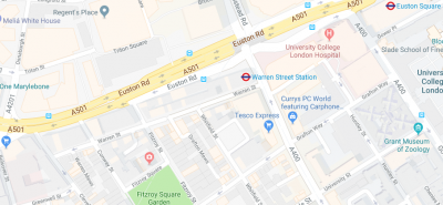 Map of Warren Street