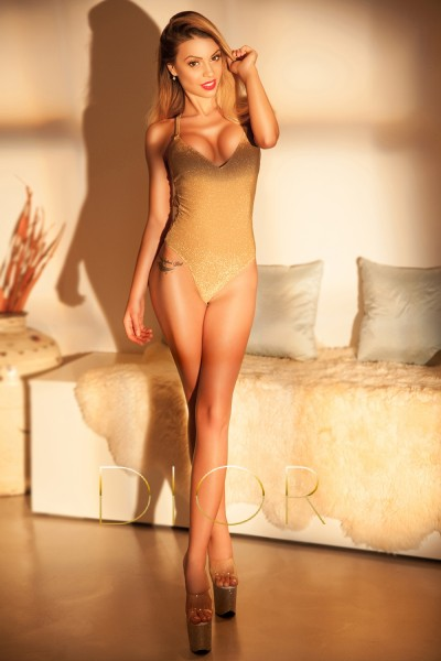 a photograph taken of the beautiful escort Zoey available in London from Dior Escorts.