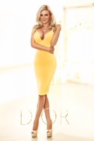 Marlene in a yellow dress