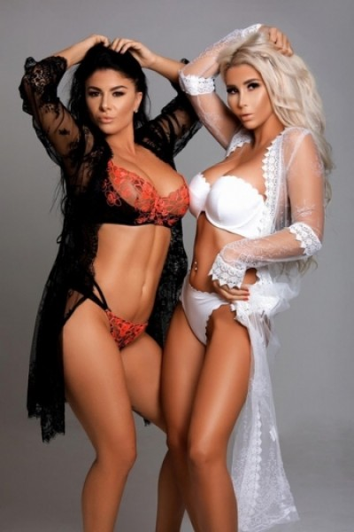 Brandy and Harriet dressed in sexy lace lingerie